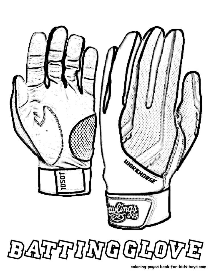 Football Glove Coloring Picture Sports Coloring Pages Coloring Pages Baseball Coloring Pages