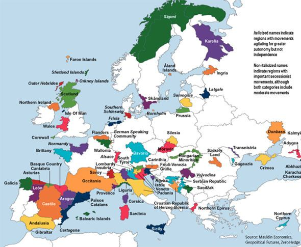Catalonia is NOT alone Mapped the other European regions