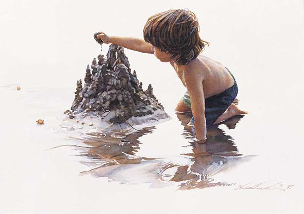 Artifacts Gallery - Drip Castles steve hanks watercolor.