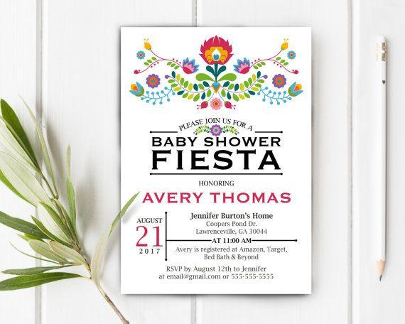 Baby Shower Fiesta Invitation, Item 207