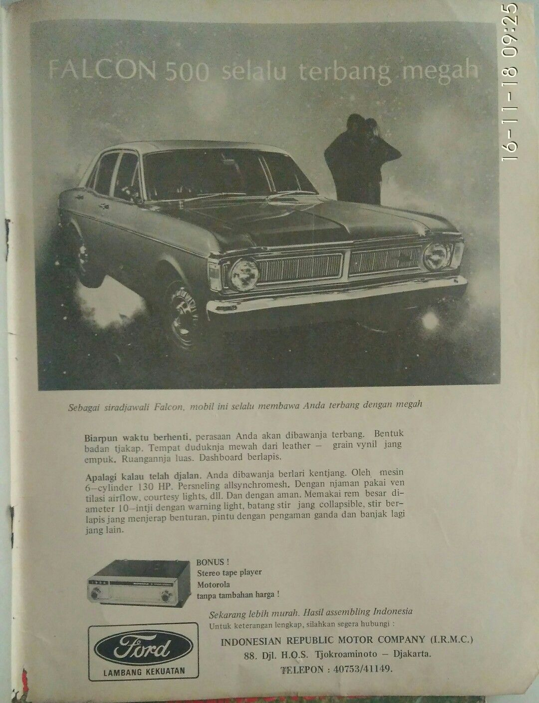 Iklan Ford Falcon Mobil Perasaan Penerbangan