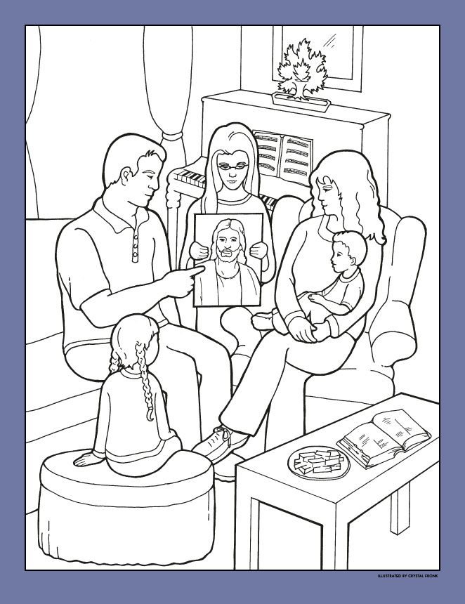 Superb Lds Prayer Coloring Page 15 LDS org Friend Article