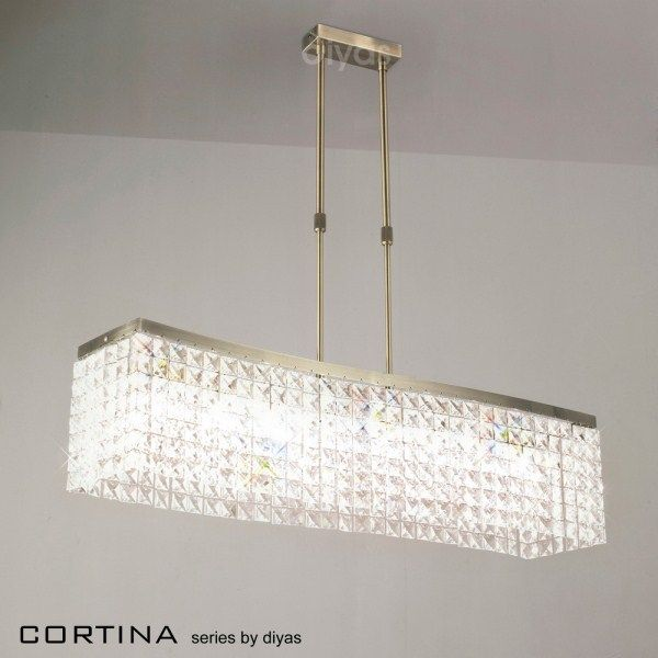 Large rectangular crystal pendent light for home | Cortina 8 Light Rectangular Crystal Pendant - Premier & Large rectangular crystal pendent light for home | Cortina 8 Light ... azcodes.com