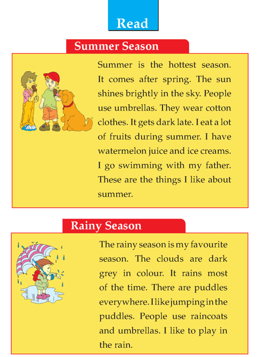 Grade 1 Descriptive Writing Season Composition Skill Page 2 English Reading Comprehension Lessons My Favorite Writer Essay Subject