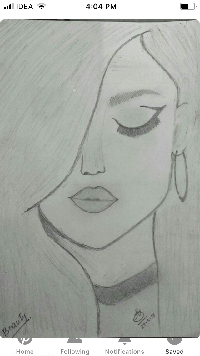 Pin By Amar Fahriki On Drawing Art Drawings Simple Cool Art Drawings Beauty Drawings