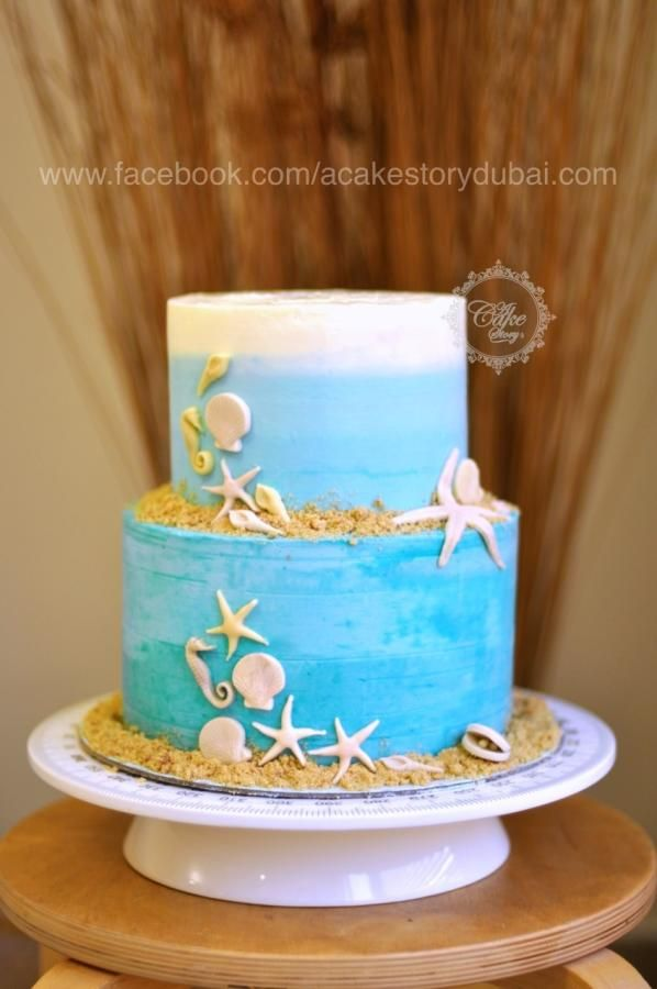 Excellent Sisters 18Th Birthday Cake Beach Buttercream Cake By Anjum Funny Birthday Cards Online Elaedamsfinfo