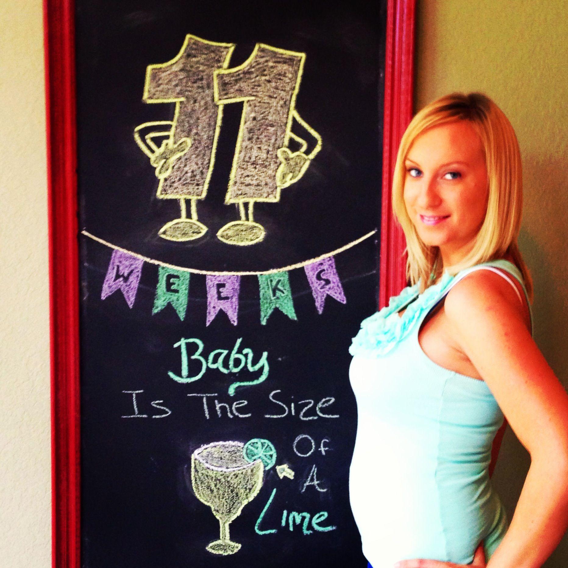 11 weeks pregnancy chalkboard update preggers