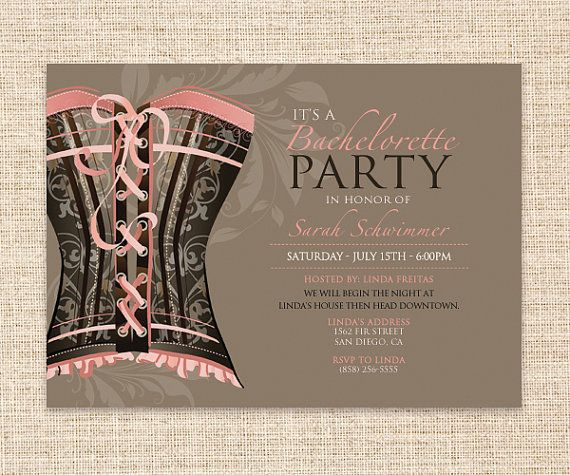 printable bachelorette party invitation - girls night out lingerie, Party invitations
