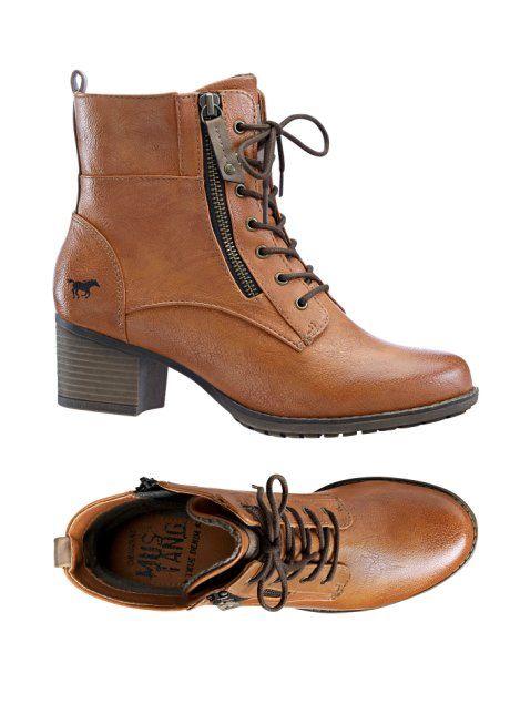Enkellaarsjes, Mustang, aardekleur | Boots! | Boots, Shoes