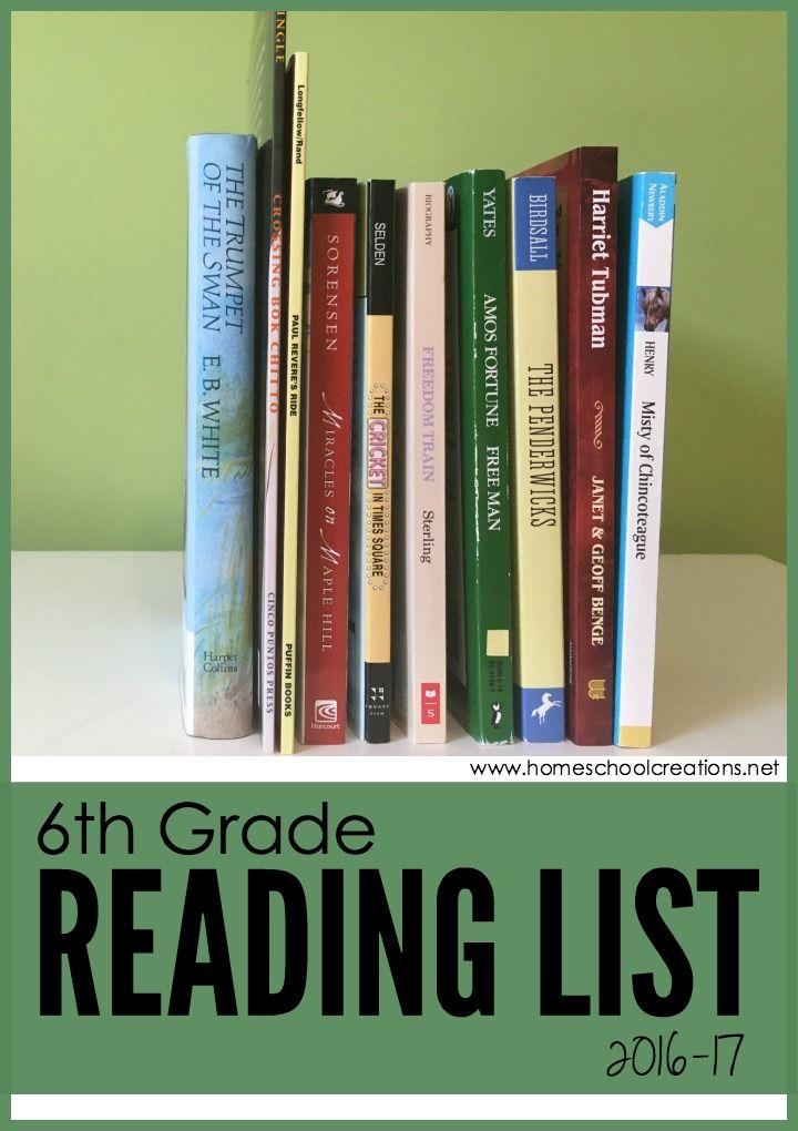 Reading List For 6th Grade Older Years Homeschooling Pinterest