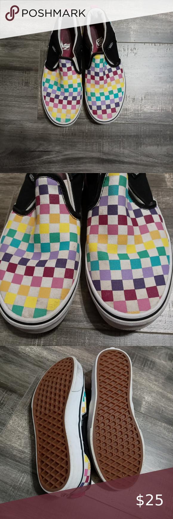 rainbow vans size 5