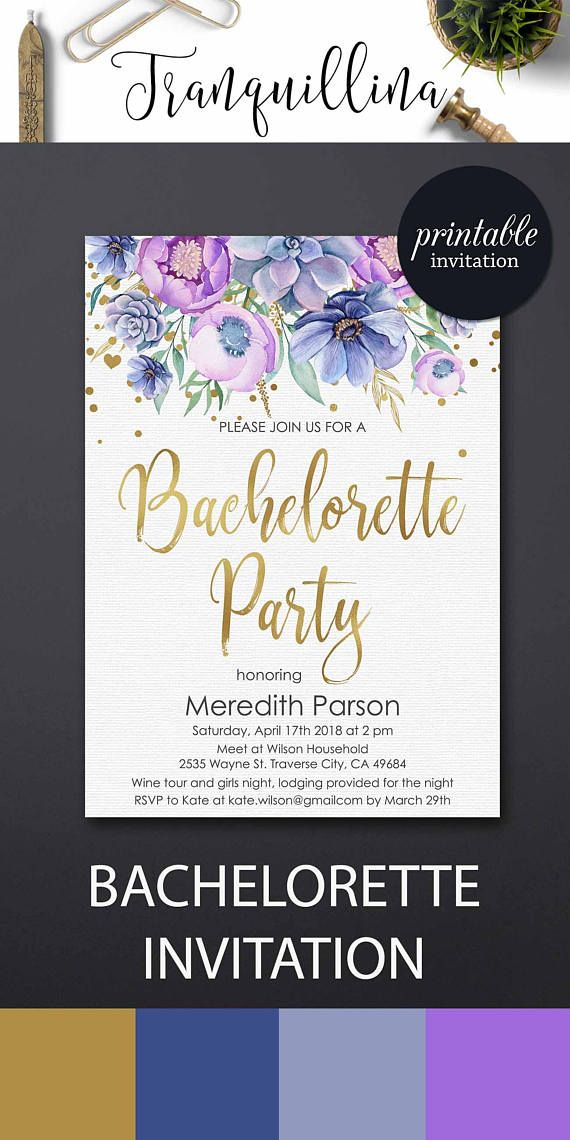 Bachelorette Party Invitation Hens Party Invitation Floral ...