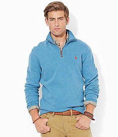 Polo Ralph Lauren FrenchRib HalfZip Pullover #Dillards