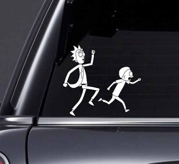 Rick and Morty Car Decal