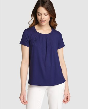 7d3c08893 Camiseta de mujer Antea azul marino de manga corta | POLOS Y BLUSAS ...