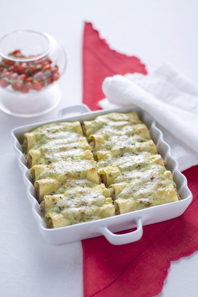 Photo of Meat cannelloni with spinach béchamel …