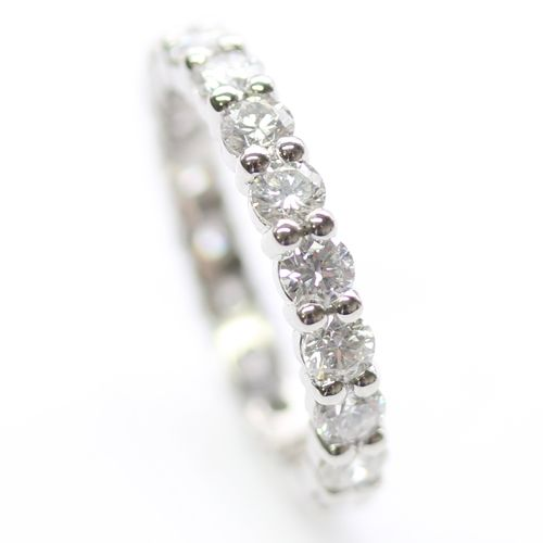 Platinum Fully Diamond Set Eternity Ring with Round Brilliant Cut ...