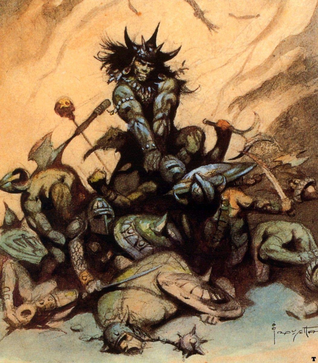 frank frazetta | Cap'n's Comics: Conan Sketches by Frank ...