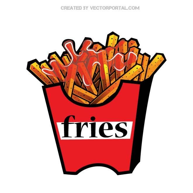 French Fries Vector Illustration French Fries Fries Vector Illustration