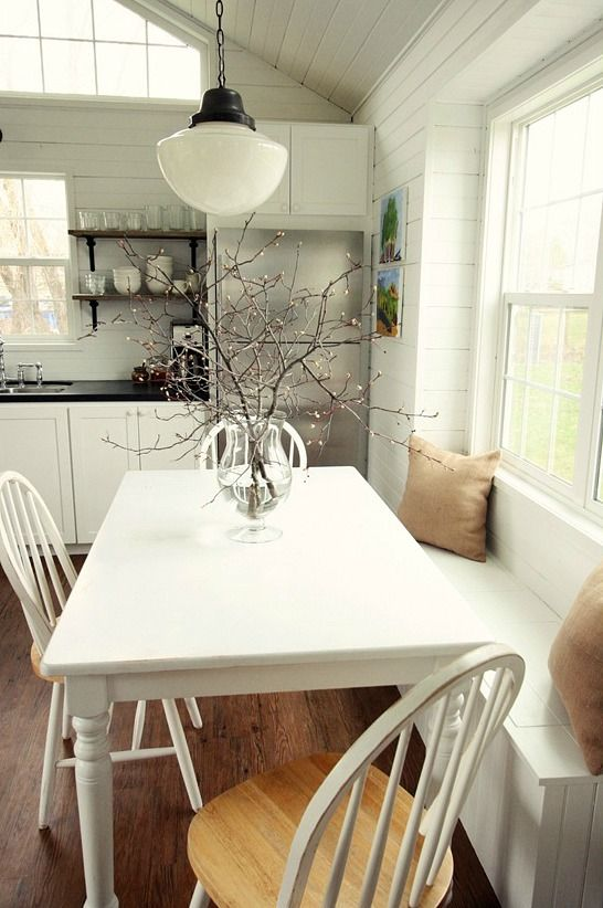 Learning to love living with less in a little house for Soapstone dining table