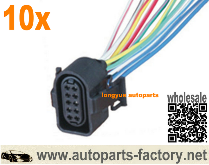 longyue 10 way female Pigtail Connector Automotive wiring