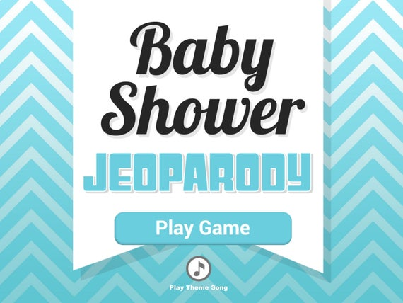 Virtual Baby Shower Game – JeoParody Template Customizable – Boy – Mac PC and iPad compatible editable – Fun Zoom Skype Party