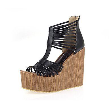 Women's Shoes Wedge Heel Wedges/Slingback Sandals Dress Black/Pink/White – USD $ 39.99