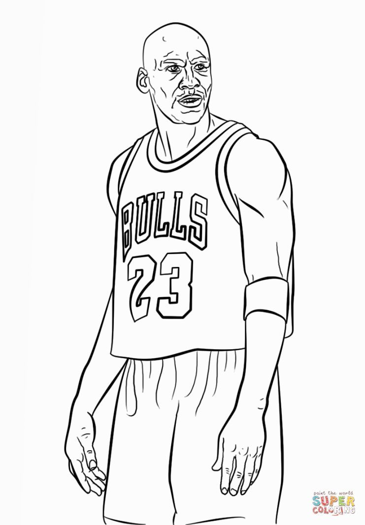 Michael Jordan Coloring Pages