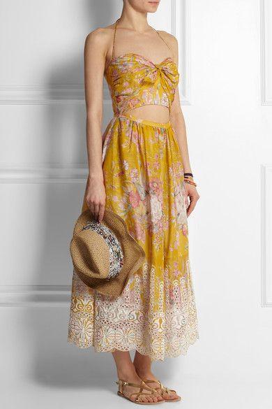 Zimmermann Feminine Dresses New York Fashion Week: Zimmermann Confetti Floral-print Cotton Dress