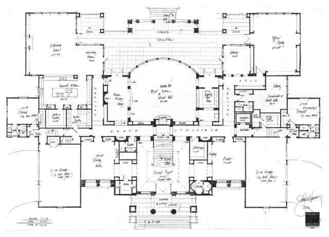 Designs traditional floor plan orlando by john henry for Famous building blueprints