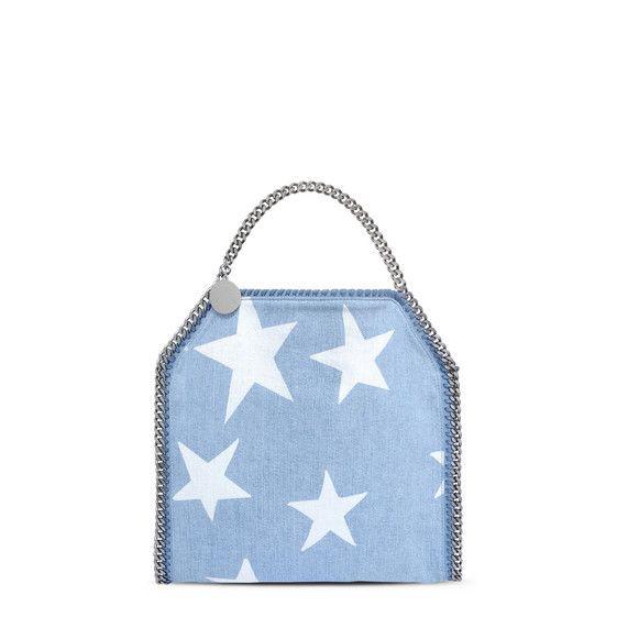 Falabella Denim Star Mini Tote - Stella Mccartney Official Online ... e76170f88713a