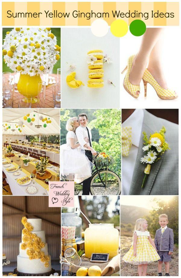 Summer yellow gingham wedding ideas