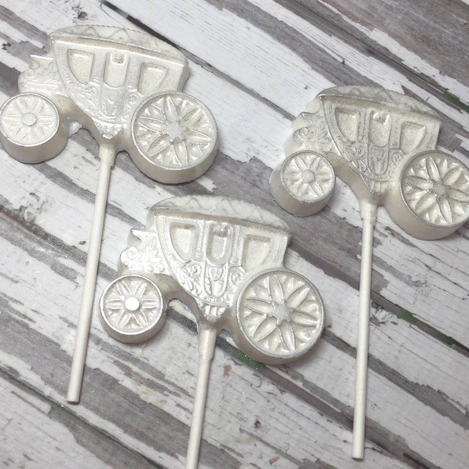 12 Pink White Silver Princess Bride Carriage First Birthday Wedding ...
