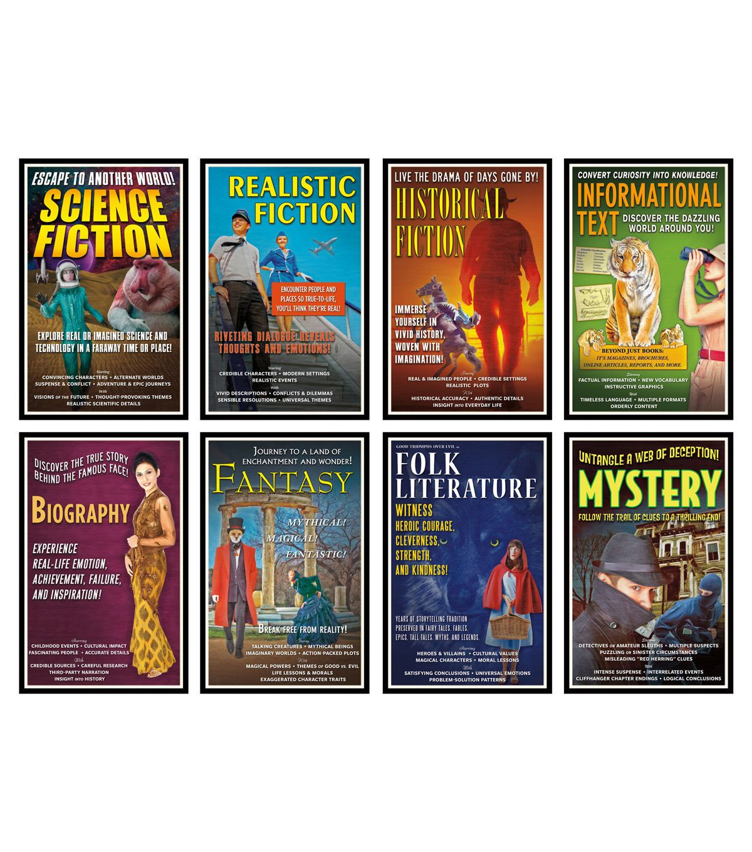 Literary Genres Bulletin Board Set 2 Sets