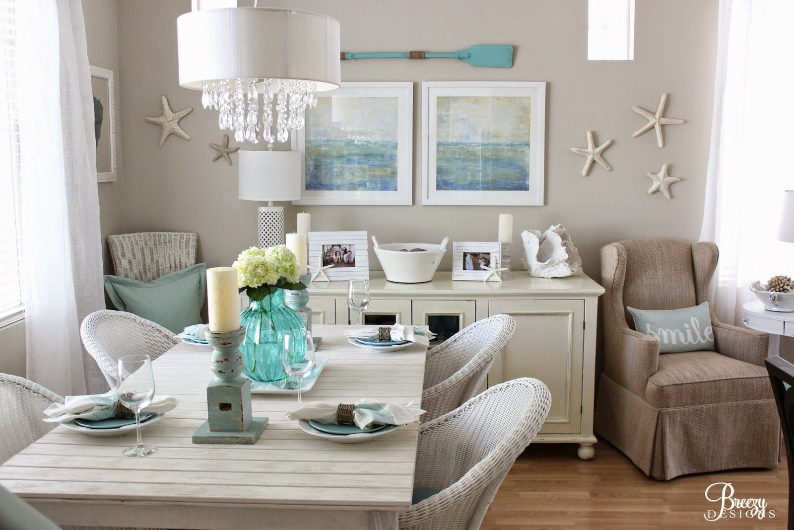 Lovely Beach Cottage From House Of Turquoise Guest Blogger Breezy Designs