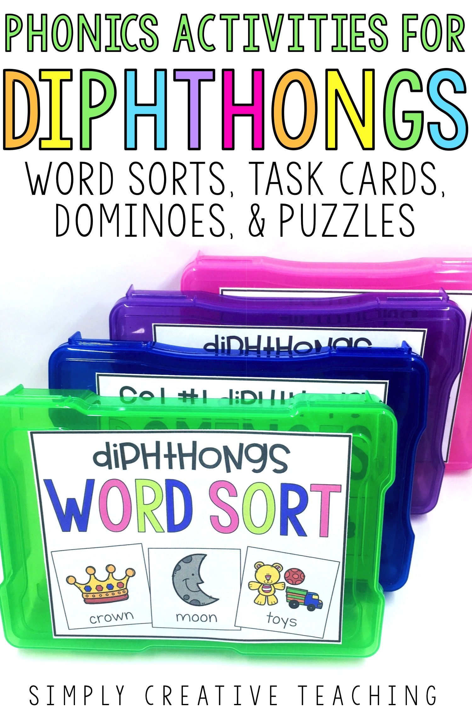 Diphthongs Word Work Centers Amp Activities