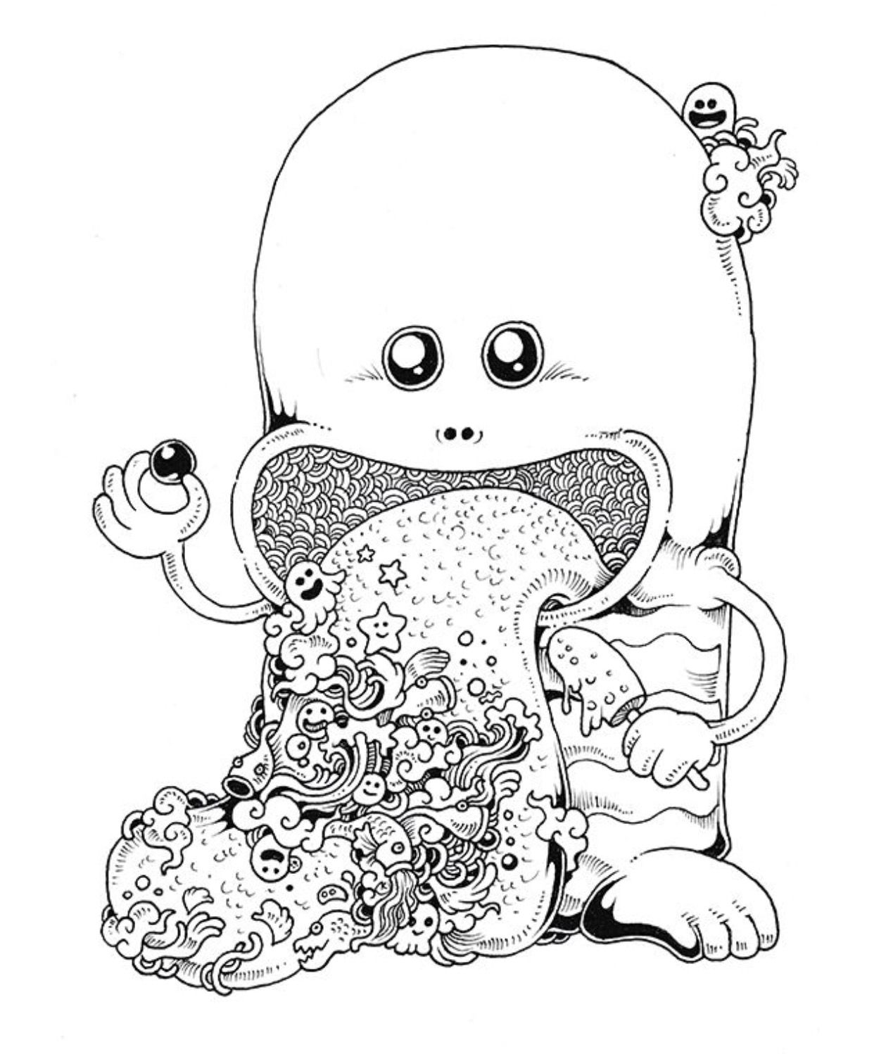 Anti stress colouring doodle and dream - Doodle Invasion Coloring Book By Kerby Rosanes Via Behance