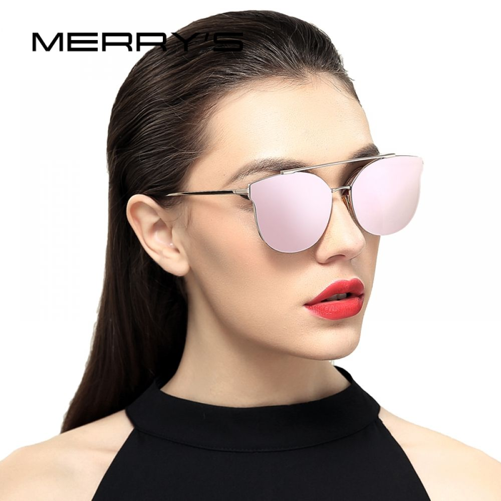 2ea1b79d9b4f8 MERRY S Women Cat Eye Sunglasses Brand Designer Sunglasses Classic Shades  Round Frame S 8064
