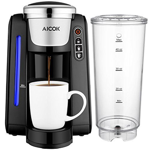 Aicok Single Serve Programmable Coffee Maker Coffee Machine With Five Brew Sizes For Single Serve Coffee Makers Capsule Coffee Machine Single Cup Coffee Maker