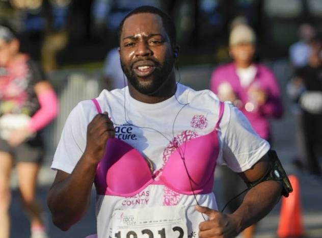 This runner got serious about pink for the 30th annual Komen Race for the Cure in Dallas.