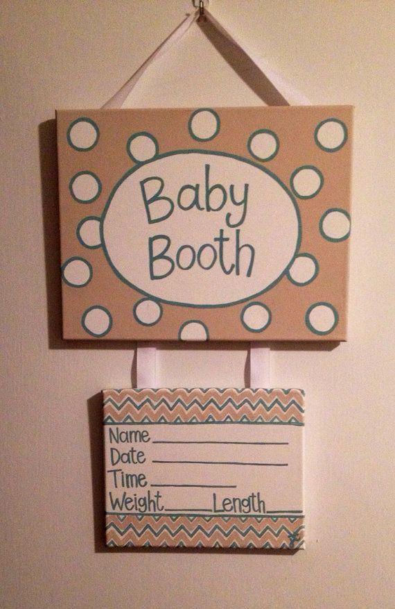 Pastel baby hospital door hanger