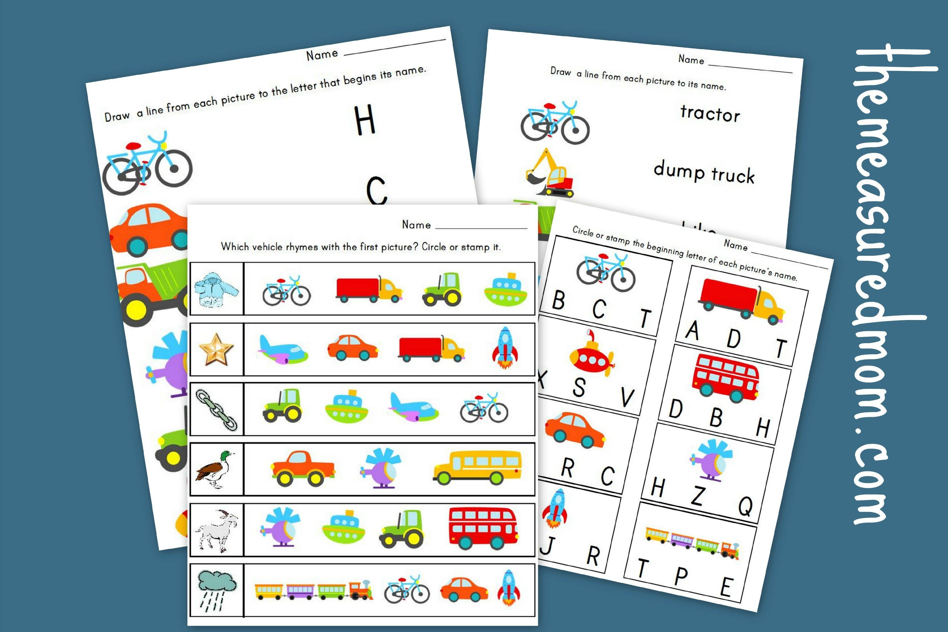 Measured Mom Transportation Literacy Worksheets