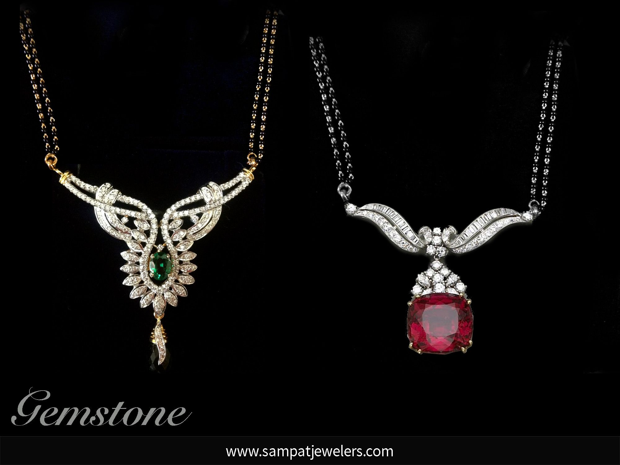 Mangalsutra designs you will adore Gemstone Collection and Indian