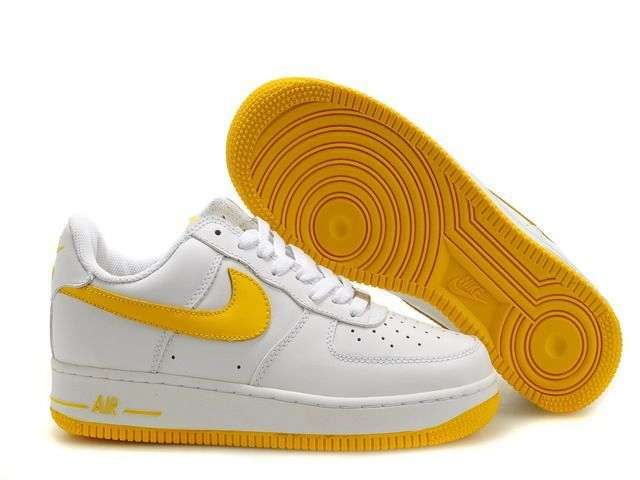 best service aae8b 8ac1a Nike Air Force 1 Low White Yellow Lover Shoes