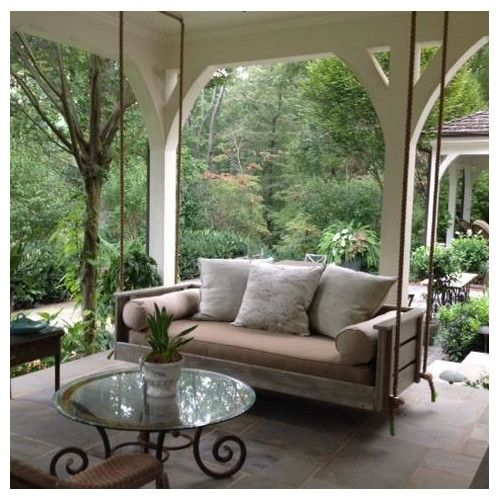 Front Porch Swings Farmhouse Exterior: Found It At Wayfair - Joshua Porch Swing