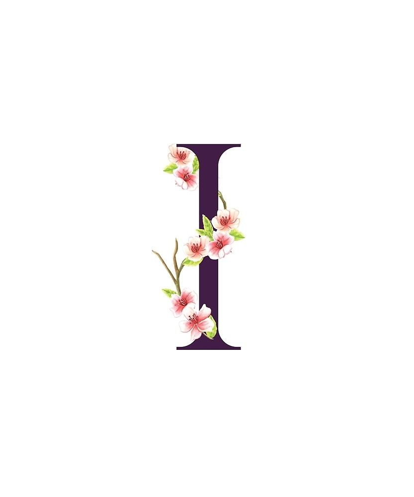 Monogram I Pretty Pink Cherry Blossoms Sticker By Floralmonogram Cherry Blossom Pink Glitter Background Cute Wallpaper Backgrounds