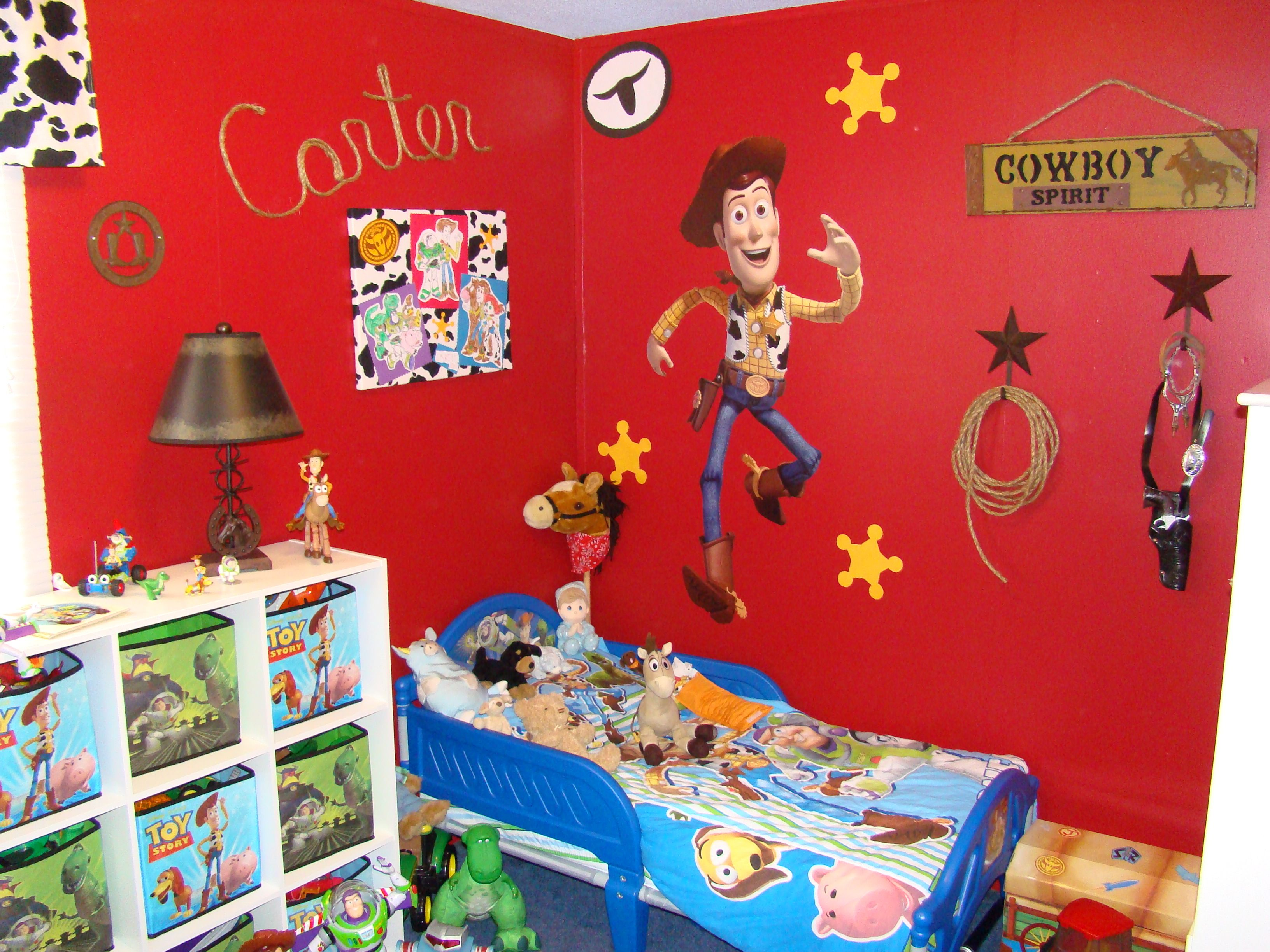 Toy Story Room Woody Side Of Room Toy Story Room Toy Story Bedroom Boy Toddler Bedroom