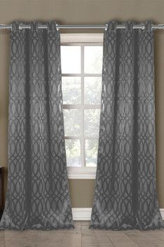 DUCK RIVER Tayla Heavy Blackout Grommet Panel Curtains - Set of 2 - Grey