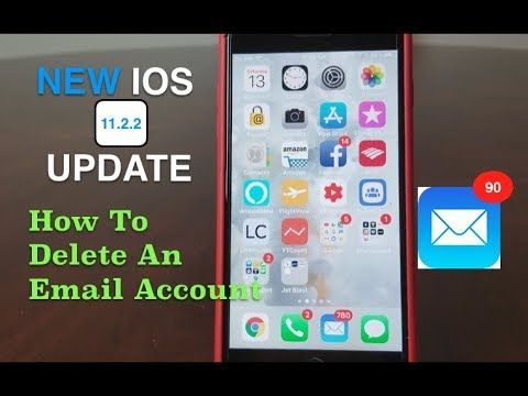 iPhone How To Delete An Email Account ( 2018 ), With The