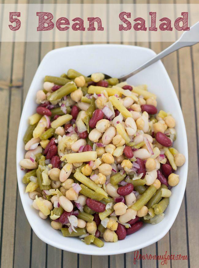 5 Bean Salad Recipe Flour On My Face Recipe Bean Salad Recipes Summer Side Dishes Recipes Bean Salad
